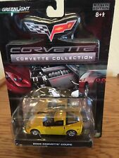 Yellow C6 Corvette Diecast Greenlight LOT OF 25.  Great Christmas Tree ornaments