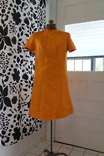 60s Mod Space Age Orange Silk Satin Cocktail Patry Dress M-L Pavillon Designs