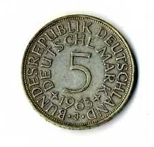 Moneda Alemania 1963 J 5 marcos plata .625 silver coin Deutsche Marck