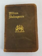 Antique Knickerboker W Shakespear TAMING OF THE SHREW Miniature Leather Book