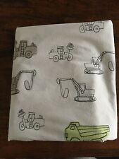 POTTERY BARN KIDS FULL SIZE CONSTRUCTION VEHICLES SHEET EXCELLENT