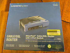 *New/Factory Sealed* Linksys EtherFast 4-Port Cable/Dsl Wired Router BEFSR41