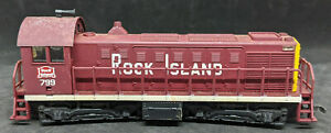 AHM HO: Scale Rock Island ALCO GE 1000 HP *DUMMY* Diesel #799 LOCOMOTIVE VINTAGE