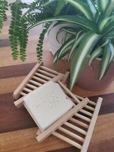 Natural Wooden Soap Dish/Rack/Holder/Tray . UK Seller.