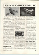 1958 PAPER AD Adams Action Models Hobby Kit US Army Tank Aurora WWI Planes