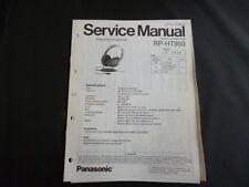 Original Service Manual  Panasonic RP-HT950