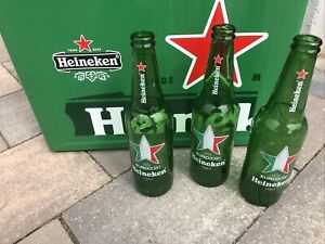 3 leere Flaschen Heineken Bier Fussball Europameisterschaft Euro 2020 * 🇮🇹