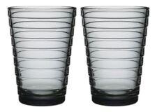 set di bicchieri grigi vetro