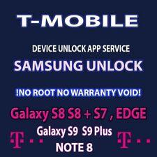 T-MOBILE  SIM UNLOCK APP CODE SERVICE SAMSUNG GALAXY S9 + NOTE 8 S8 PLUS S7