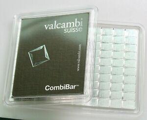 100 Gram Valcambi Silver CombiBar (100x1g w/ Assay)-A