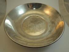 """Vintage Gorham Sterling Silver 9"""" Bowl With Flower Design #1329"""