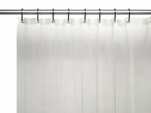 Stall Heavy Gauge Vinyl Shower Curtain Liner, 54-Inch by 78-Inch, Super Clear
