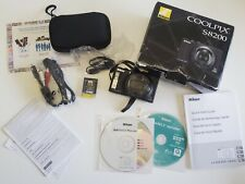 Nikon COOLPIX S8200 16.1MP Digital Camera - Black (S8200) WITH BOX & ACCESSORIES