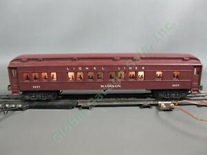 1940s Postwar Lionel O Train Set Heavyweight Madison 2627 Pullman Passenger Car
