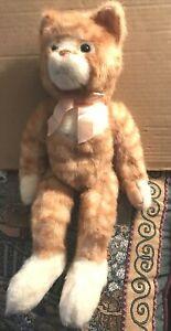 "Russ Plush Scratch Kitty Cat Orange Tabby Striped Kitten Stuffed Animal 15"" Toy"