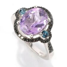 Sterling Silver 2.87ctw African Amethyst Cocktail Ring, Size 6