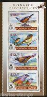 SOLOMON ISLANDS 2015 FLYCATCHERS SHEET   MINT NH