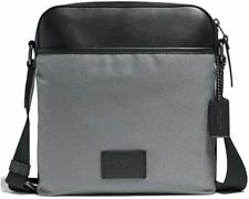 Coach Men's Crossbody Nylon Messenger Tote Bag - Heather Grey/Black