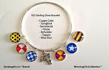 Winning SIlks™ Charm Bracelet - Sterling Silver -6 Charms + FREE Horse Charm