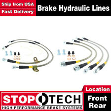 Stoptech Front + Rear Stainless Steel Brake Lines For 07-13 Chevy Suburban 2500