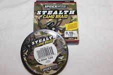 """Spiderwire stealth """"camo Braid"""" 110m-010mm-6,2 kg de camuflaje-nuevo"""