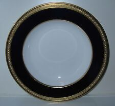 Spode T. Goode Cobalt Band Gold White Dots Rimmed Soup Bowl(s)