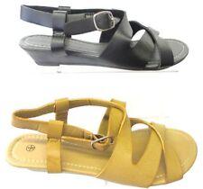 Sandali e scarpe nere zeppa Spot On per il mare da donna
