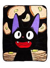 Studio Ghibli Kiki's Delivery Service Jiji Cat Pancake Super Soft Throw Blanket