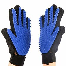 DOG  or CAT DESHEDDING GLOVES GROOMING MITTENS BRUSH TOOL RIGHT & LEFT HAND PAIR