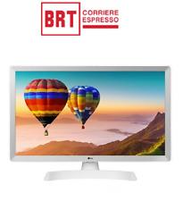 "LG Smart TV MONITOR 24"" 24TN510S-WZ LED HD DVB-T2 USB WIFI MONITOR BIANCO NUOVO"