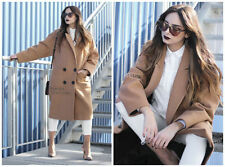 Button Wool Spring Coats & Jackets for Women