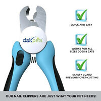 DakPets Safety Dog Cat Nail Clippers Trimmer Grooming Claw Cutter Scissors NEW