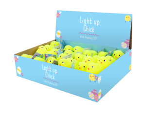 7cm Easter Light Up Chick With Pdq Toy Puff Chick Easter Arts And Craft Decorati
