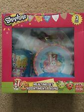 Lot 3~ Shopkins~Mealtime Set~Kids Gift Children BPA Free Plate Bowl Cup Easter
