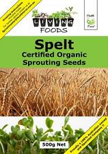 Spelt Certified Organic Sprouting Seeds 500g
