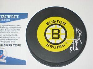 AL SECORD Signed Boston BRUINS Puck + Beckett COA
