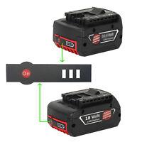 10X Li-Ionen-Akku LED-Schlüsselaufkleber Etikett Für Bosch 18V Bttery