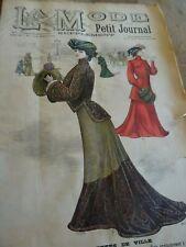 ANCIENNE REVUE LA MODE DU PETIT JOURNAL AVEC PATRON ROBE DE CHAMBRE N°51 1901