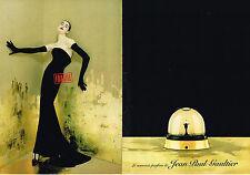 PUBLICITE ADVERTISING 045  2000  JEAN -PAUL GAULTIER ( 2pages)  nouveau parfum