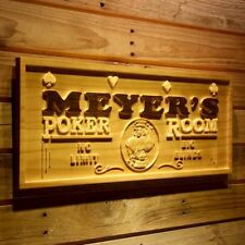 wpa0129 Name Personalized Poker Room Casino Game Wood Engraved Wooden Sign