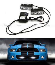 2x3 LED White Car DRL Driving Light Remote Control Strobe Flashing Warning Lamp