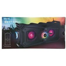 Sharper Image Rhythmic 2-Way Wireless Bluetooth Party Speaker With LED Lights