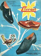 2c888483e9 I- Publicité Advertising 1958 Les Chaussures mocassins homme Clerget