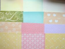 "12 Pastel Patterned 6"" x 6"" Backing Papers NEW"