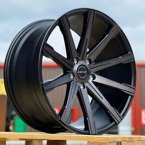 "20"" Inovit Revolve Alloy Wheels 5x120 Black MF fits VW Transporter T5 T6"