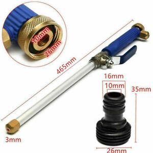 High Pressure Power Washer Water Spray Gun Nozzle Wand Garden Hose Blue