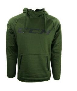 CCM Hockey Adult/Senior Grit Fleece Army Green/Black Hoody Size M