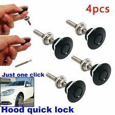 4 Pieces Push Button Quick Release Hood Bonnet Pins Lock Clip Car Bumper Latch