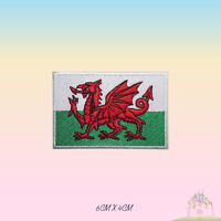 Wales National Flag Embroidered Iron On Patch Sew On Badge