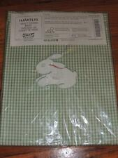 NEW IKEA BUNNY HJARTLIG BABY QUILT COVER DUVET GREEN WHITE CHECK 100% COTTON
